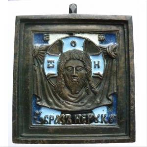 Антиквариат: старинные медные литые иконы, складни, створки и кресты-распятия