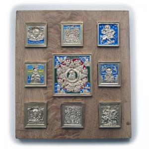 Врезные бронзовые иконы и иконостасы
