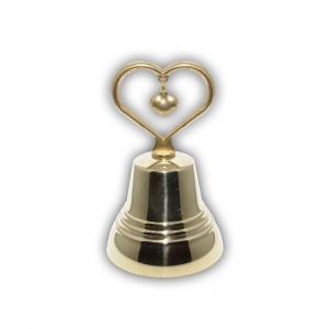 1.12 Бронзовый колокольчик №5 с ручкой в виде Сердца