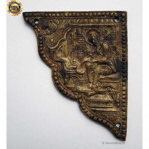 1.149 Медная накладка на Евангелие, Марк евангелист,19в.