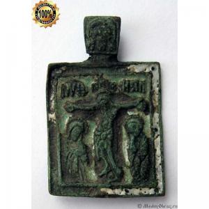 1.25 Икона медная Распятие Христово, 18в.