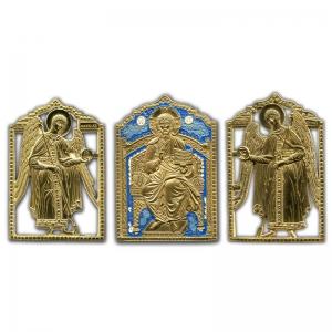 1.31 Деисус с Архангелами (три медные иконы)
