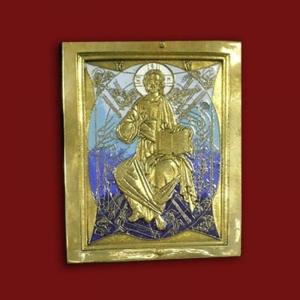 1.40 Икона медная «Спас в силах»