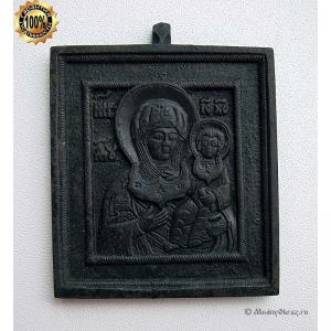 1.85 Икона медная Богоматерь Смоленская, 19в.