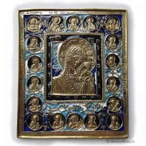 2.2.17 Икона медная Богоматерь Казанская с избранными святыми