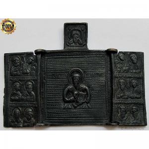 2.227 Складень медный Антипа Пергамский,19в.