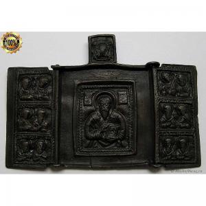 2.248 Складень бронзовый Антипа Пергамский,18в.