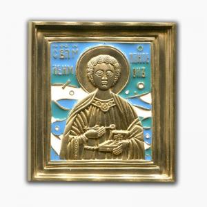 3.107 Икона медная Великомученик Пантелеймон