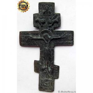 3.18 Медный крест Распятие Христово,18в.