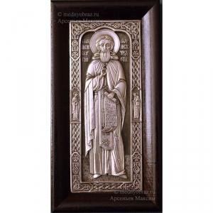 3.26 Серебряная икона Сергий Радонежский