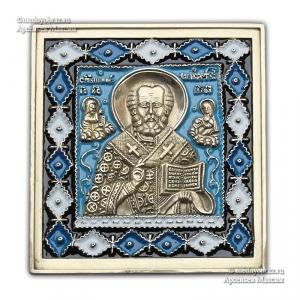 3.33 Икона медная Николай Чудотворец