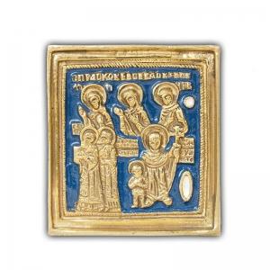 3.40 Икона медная Кирик и Иулитта с избранными святыми