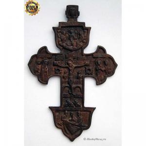 3.45 Медный наперсный крест Распятие Христово,18в.