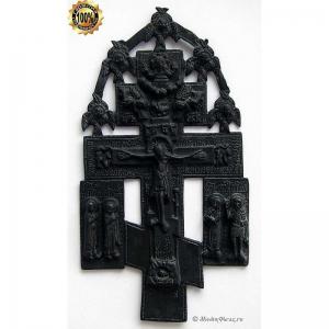 3.48 Медный киотный крест Распятие Христово,18в.
