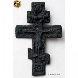 3.49 Медный крест Распятие Христово,19в.