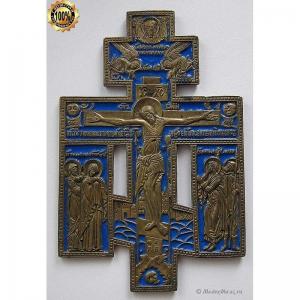 3.50 Медный крест Распятие Христово, 19в.