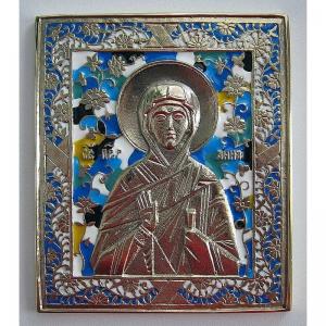 3.51 Икона медная Святая Анна Пророчица