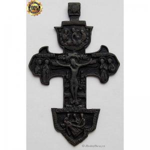 3.53 Медный крест Распятие Христово,18в.