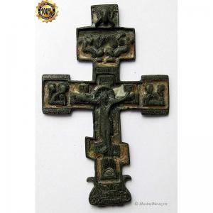 3.57 Наперсный медный крест,эмаль,кон.17в.