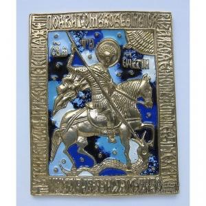3.59 Икона медная Георгий Победоносец