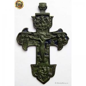 3.59 Владимирский медный крест Распятие Христово, 18в.
