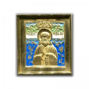 3.62 Медная икона Сергий Радонежский