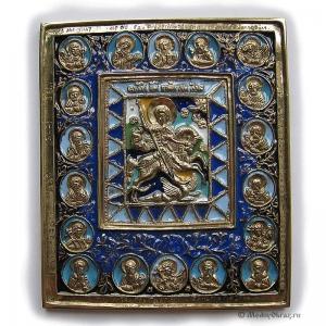 3.73 Чудо Георгия о змие с избранными святыми