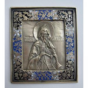 3.74 Икона медная Преподобный Нифонт