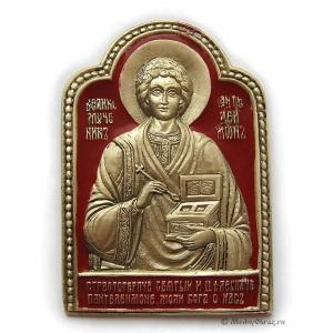 3.75 Икона медная Святой Пантелеимон