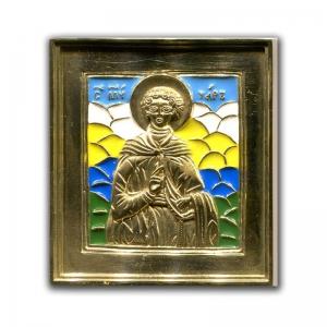 3.76 Икона медная Святой мученик Уар