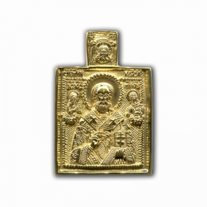 3.79 Икона бронзовая Николай Чудотворец