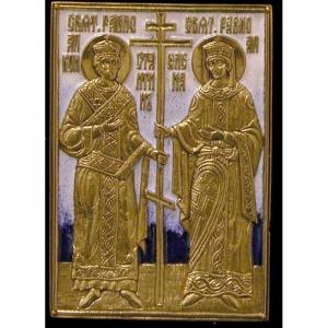 3.86 Икона медная Константин и Елена