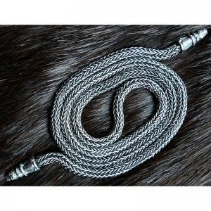39. Плетеная серебряная цепь