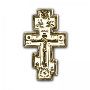 4.2.24 Малый медный поморский крест Распятие Христово