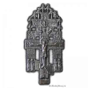 4.2.2 Медный крест Распятие Христово  с предстоящими