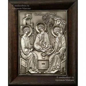 6.6 Серебряная икона Святая Троица