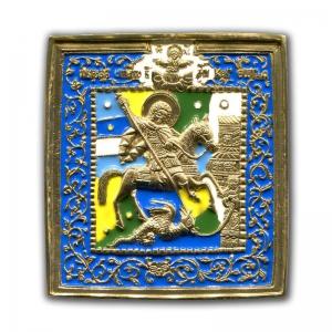 3.72 Икона медная Чудо Георгия о змие