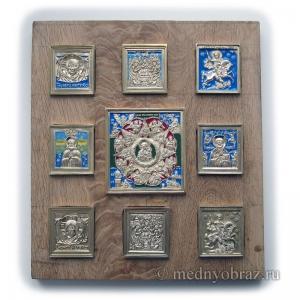 Современные врезные бронзовые иконы (ставротека-иконостас)