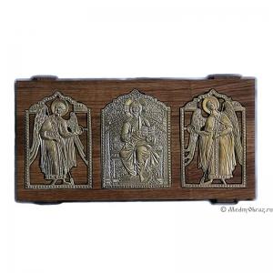Ставротека-иконостас: Деисус с Архангелами Михаилом и Гавриилом