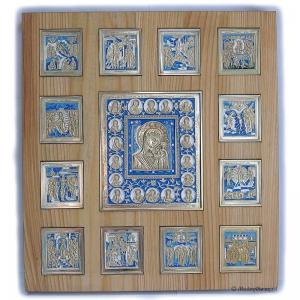 Иконостас Казанская Богоматерь с Двунадесятыми праздниками