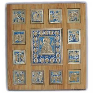 Иконостас Николай Чудотворец с Двунадесятыми праздниками