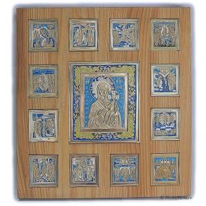 Иконостас Богоматерь Смоленская с Двунадесятыми праздниками