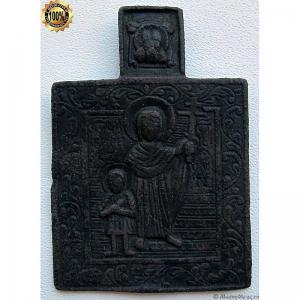 1.104 Медная икона Святые Кирик и Иулитта, 19в.