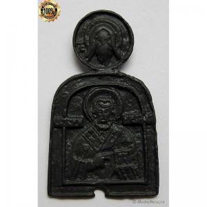 1.134 Икона медная Николай Чудотворец,17в.
