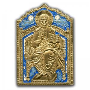 1.30 Икона медная Вседержитель на престоле