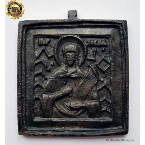 1.49 Икона медная Святая Параскева Пятница, 19в.