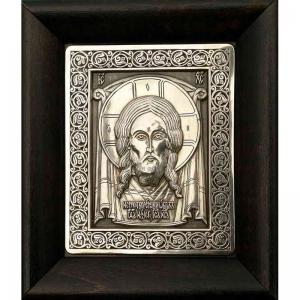 1.4 Серебряная икона Спас Нерукотворный
