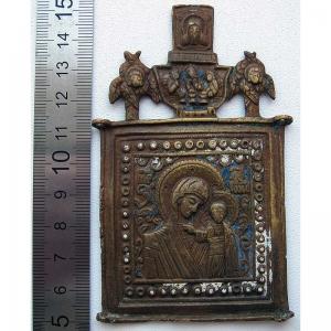 2.161 Средник медного складня Богоматерь Казанская, 19в.