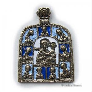 2.2.14 Икона медная Богоматерь Смоленская с избранными святыми
