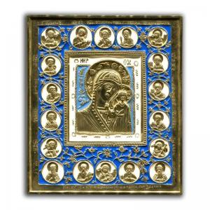 2.2.22 Икона медная Богородица Казанская с избранными святыми